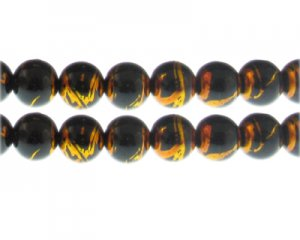 12mm Lightning Sky Abstract Glass Bead, 14 beads