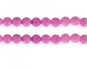 10mm Cherry Quartz Duo-Style Glass Bead, approx. 16 beads