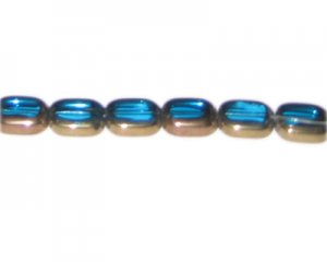 12 x 10mm Turquoise Vintage-Style Glass Bead, approx. 7 beads