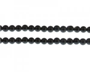 6mm Black Onyx Duo-Style Glass Bead, approx. 48 beads