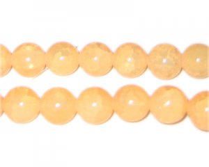 12mm Light Carnelian-Style Glass Bead, approx. 18 beads