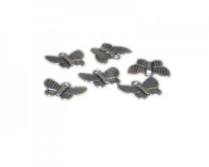 16 x 14mm Silver Butterfly Metal Charm, 6 charms