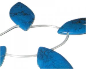 50 x 22mm Turquoise Drop Bead. Limit 1!