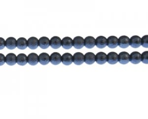 8mm Sky Blue Rustic Glass Pearl Bead, approx. 56 beads