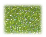 11/0 Apple Green Rainbow Luster Glass Seed Beads, 1 oz. bag