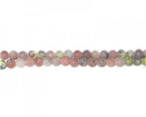 "4mm Beige Dyed Agate Matte Beads, 15"" string"