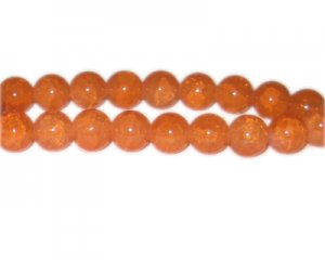 10mm Deep Citrine-Style Glass Bead, approx. 21 beads