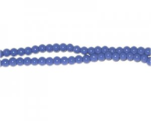 4mm Sky Blue Team and School Glass Bead, approx. 102 beads
