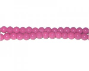 6mm Violet Team and School Glass Bead, approx. 73 beads