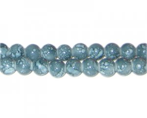8mm Jasper-Style Glass Bead, approx. 55 beads