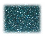 11/0 Deep Green Silver-Lined Glass Seed Beads, 1 oz. bag