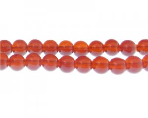 10mm Cherry Jade-Style Glass Bead, approx. 21 beads
