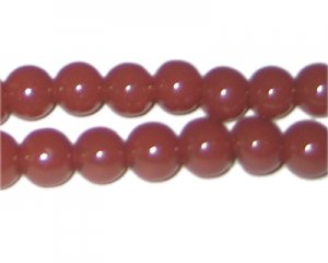10mm Chestnut Jade-Style Glass Bead, approx. 21 beads