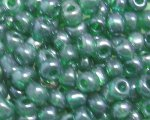 6/0 Forest Green Ceylon Glass Seed Bead, 1oz. bag