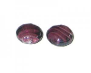 20mm Purple Faceted Handmade Lampwork Glass Bead, 5 beads