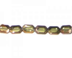 12 x 8mm Light Gold Vintage-Style Glass Bead, approx. 8 beads