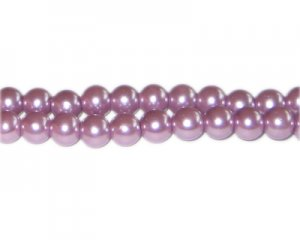 8mm Lavendar Glass Pearl Bead, approx. 56 beads