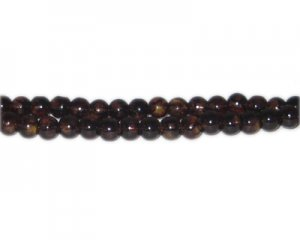 6mm Brown Blossom Spray Glass Bead, approx. 72 beads