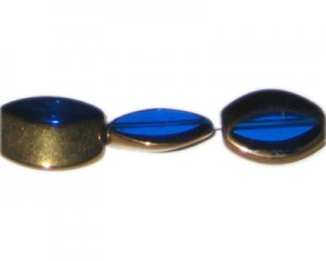 24 x 20mm Blue Vintage-Style Glass Bead, approx. 3 beads