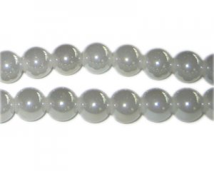 8mm Fog Gray Galaxy Glass Bead, approx. 52 beads