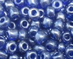 6/0 Royal Blue Ceylon Glass Seed Bead, 1oz. bag