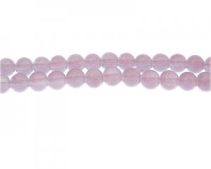 8mm Soft Velvet Jade-Style Glass Bead, approx. 55 beads