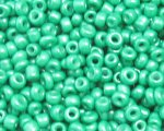 11/0 Green Opaque Glass Seed Bead, 1oz. bag