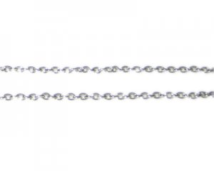 "1mm Antique Silver Link Chain, 40"" length"