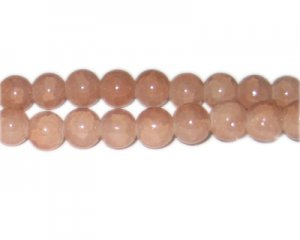10mm Smoky Quartz-Style Glass Bead, approx. 21 beads