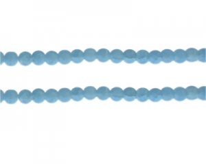 6mm Soft Turquoise Gemstone-Style Glass Bead, approx. 48 beads