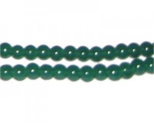 6mm Hunter Green Jade-Style Glass Bead, approx. 55 beads