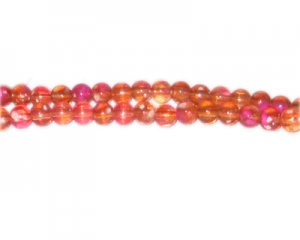 6mm Orange Blossom Spray Glass Bead, approx. 72 beads
