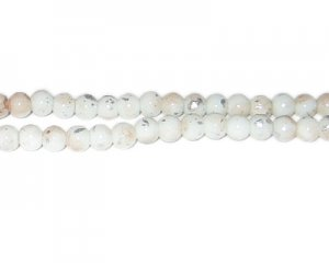 6mm Champagne SilverLeaf-Style Glass Bead, approx. 72 beads