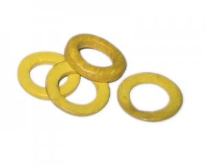 20mm Yellow Dyed Coconut Circle, 15 circles