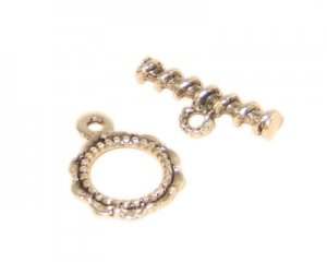 20 x 16mm Silver Metal Toggle Clasp, 2 clasps