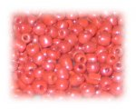 6/0 Strawberry Red Opaque Glass Seed Beads, 1 oz. bag