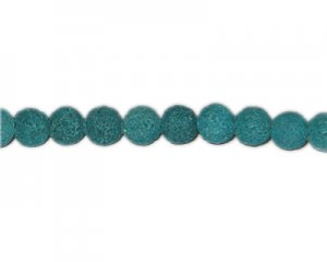 12mm Green Lava Gemstone Bead, approx. 11 beads
