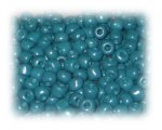 6/0 Deep Aqua Opaque Glass Seed Beads, 1 oz. bag