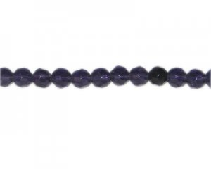 "8mm Purple Faceted Glass Bead, 13"" string"