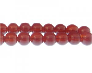 12mm Cherry Jade-Style Glass Bead, approx. 18 beads