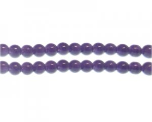 8mm Soft Purple Jade-Style Glass Bead, approx. 55 beads