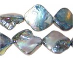14 - 21mm Smokey Irregular Diamond Luster Shell Bead