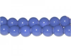 12mm Sky Blue Team and School Glass Bead, approx. 18 beads