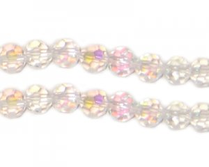 6mm Round Crystal AB Finish Bead, 20 beads