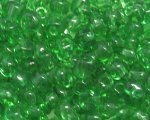 6/0 Green Transparent Glass Seed Bead, 1oz. bag
