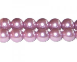 12mm Lavendar Glass Pearl Bead, approx. 18 beads