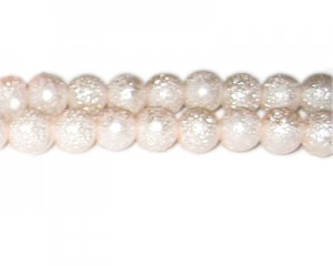 10mm Baby Pink Rustic Glass Pearl Bead, approx. 23 beads