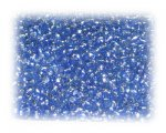 11/0 Sky Blue Silver-Lined Glass Seed Beads, 1 oz. bag