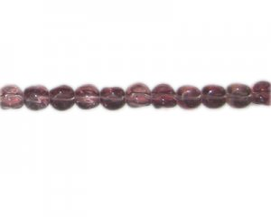"10mm Pale Plum Pressed Glass Pebble Bead, 14"" string"