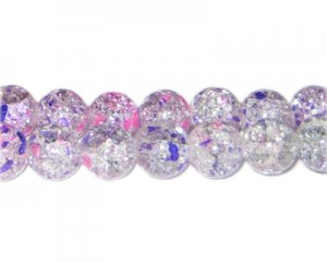 12mm Lilac Dream Crackle Season Glass Bead, approx. 17 beads